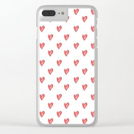 Red Love Hearts Clear iPhone Case