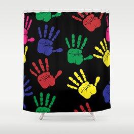 Handprints Hand Print Colourful Shower Curtain
