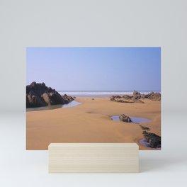 ROCK POOLS SANDYMOUTH BEACH NORTH CORNWALL Mini Art Print