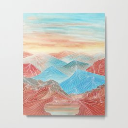 Lines in the mountains XX Metal Print