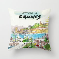 Winter In Cannes Throw Pillow