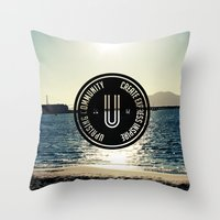 community Throw Pillows featuring Uprising Community by Uprising Community