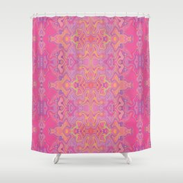 Mad pink marble 1 Shower Curtain