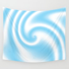 Blue Raspberry Ribbon Candy Fractal Wall Tapestry