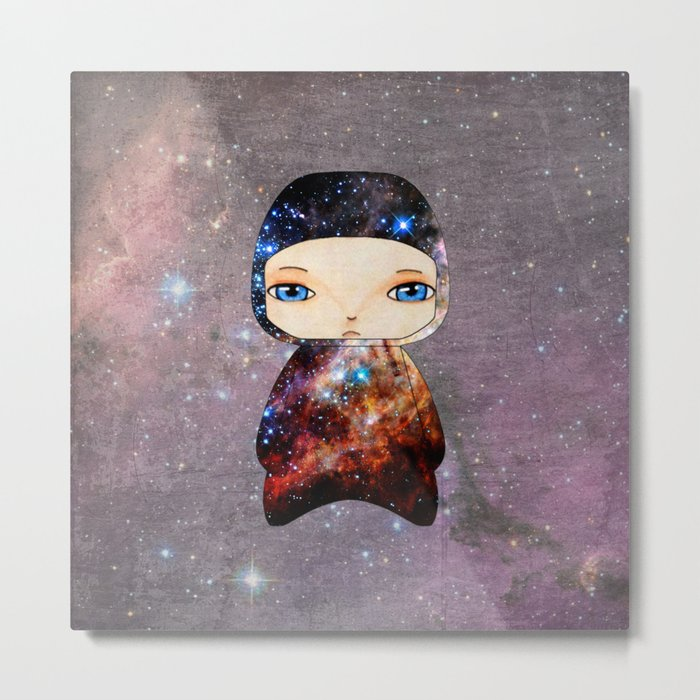 A Boy - Space Metal Print