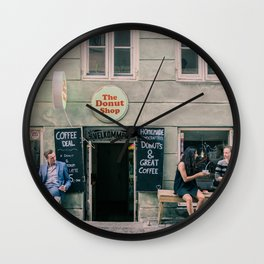 The Donut Shop, Copenhagen, Denmark Wall Clock