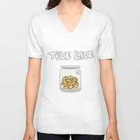 cookies V-neck T-shirts featuring Cookies by Firielle