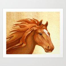 Redhead - Chestnut Hunter Horse Art Print