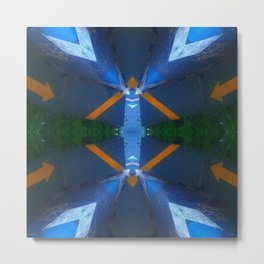 Urban Blue Metal Print