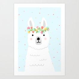 l is for llama Art Print