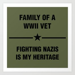 WWII Family Heritage Art Print
