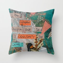 She Ignored People Throw Pillow