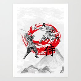 Samurai Warriors Art Print