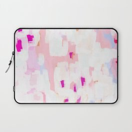 Netta - abstract painting pink pastel bright happy modern home office dorm college decor Laptop Sleeve
