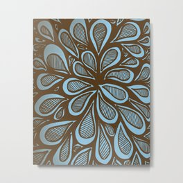 Abstract Zendoodle Warhol Style Metal Print