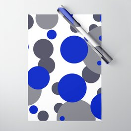 Bubbles blue grey- white design Wrapping Paper
