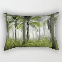 Foggy Palm Forest Rectangular Pillow