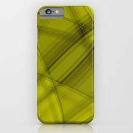 Angular strokes with honey diagonal lines from intersecting bright stripes of light.  iPhone Case