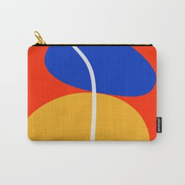 Red Zen Minimal Abstract Carry-All Pouch