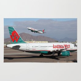 America West Airbus A319 and 737 Rug