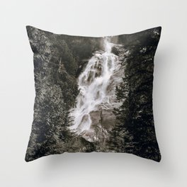 Waterfall III / Canada Throw Pillow