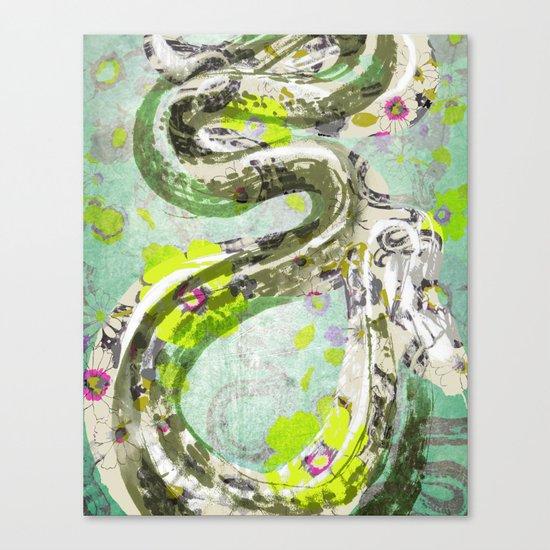 Garden Snake Commons Canvas Print