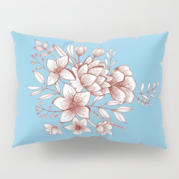 Line Flower Bouquet Pillow Sham