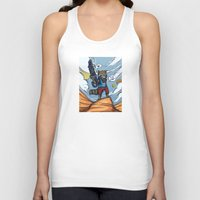 rocket raccoon Tank Tops featuring Rocket Raccoon and Baby Groot  by BlacksSideshow
