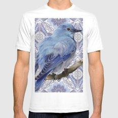 Blue Bird Mens Fitted Tee White MEDIUM