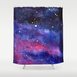 Nebula Galaxy Watercolor Space Sky Shower Curtain