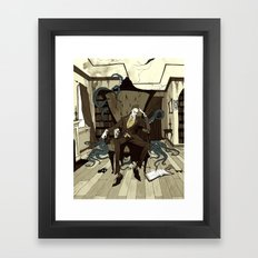 H.P. Lovecraft Framed Art Print