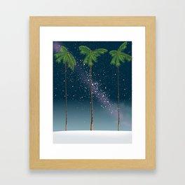 Palms under the Stars, Framed Art Print