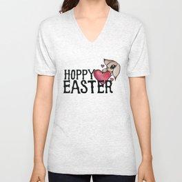 Hoppy Easter Unisex V-Neck