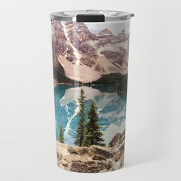 Moraine Lake III Banff Summer Mountain Reflection Travel Mug