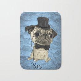 Pug; Gentle Pug (color version) Bath Mat