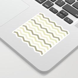 Chevron Pattern Number 4 Sticker