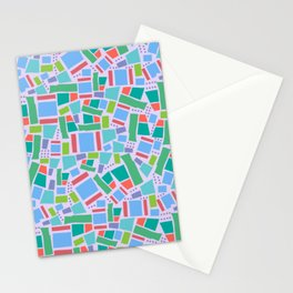 Shapes of Hackney - four sides Stationery Cards