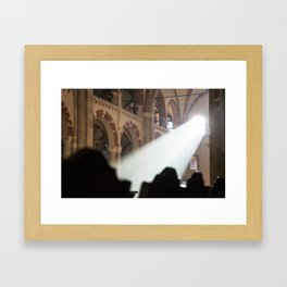 Basilique Saint Ambroise Milan Framed Art Print