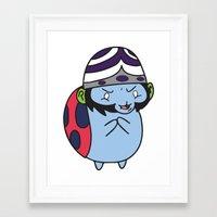 catbug Framed Art Prints featuring Catbug Mojojojo by Ilse S