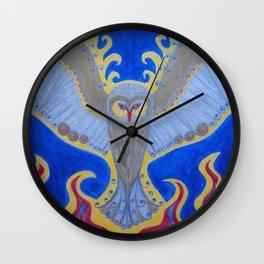 Phoenix Owl Wall Clock
