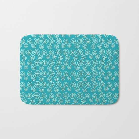 Blue Scribbles Pattern 01 Bath Mat