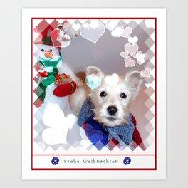 Frohe Weihnachten Art Print