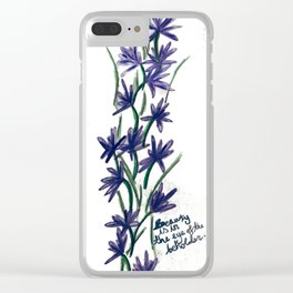 PurpleFlowers Clear iPhone Case