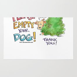 Please, Empty Your Dog! Rug