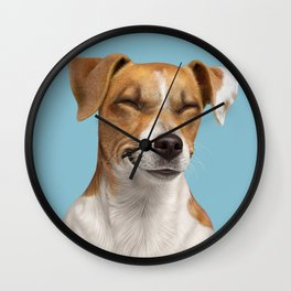 Smiling Dog (Jack Russell) Wall Clock