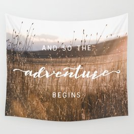And So The Adventure Begins - Rustic Western Wall Tapestry