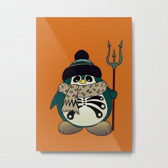 Harold The Penguin.Halloween character Metal Print