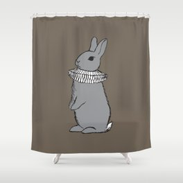 Frilly Rabbit Shower Curtain
