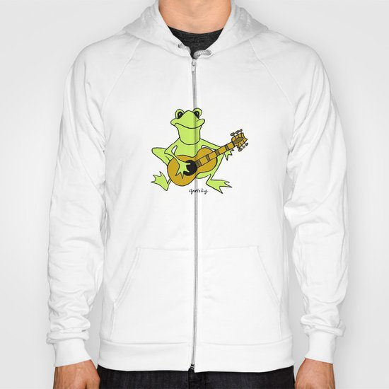 Frog with guitar Hoody