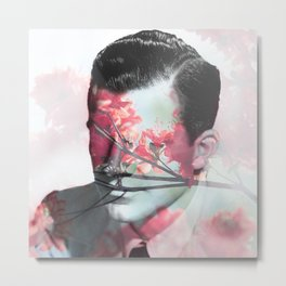Flowers Boy Metal Print